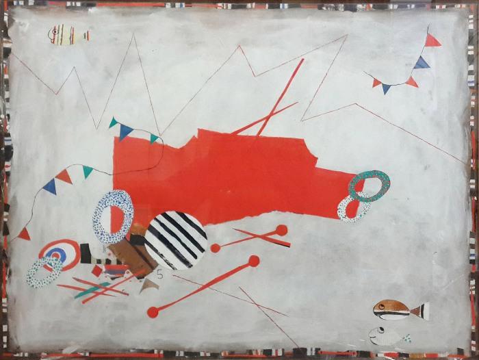 300-Ides Kihlen-Y 016-2004-Acrílico con recortes de ppintado sobre carton-60 x 80