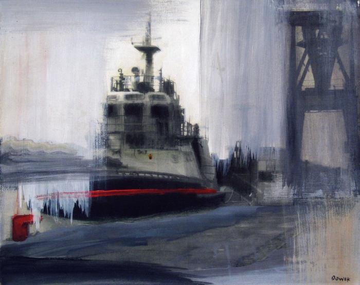 DIANA DOWEK-Barcaza, acrilico s tela, 40x50cm,2009. (1)