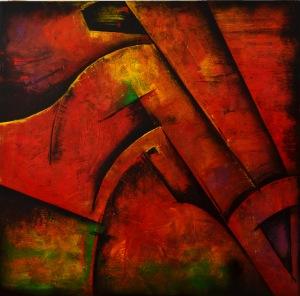 Claudia COSTANTINI, 150x150, serie Fusión, técnica mixta