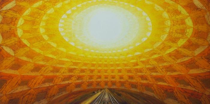juan doffo - Substancia de tiempos, 2006,  acrílico sobre tela, 100 x 200 cm.