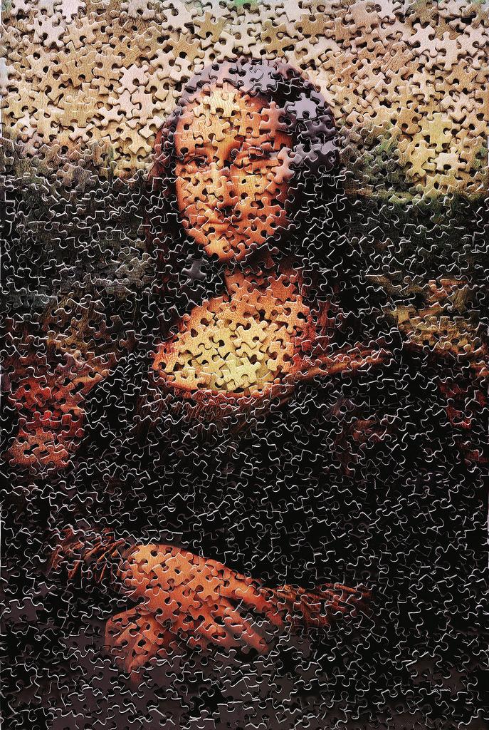 Mona Lisa, after Leonardo Da Vinci (Gordian Puzzles), 2009