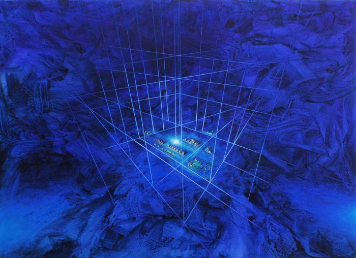 Dosso, Quizás el universo sea una actividad de la mente - 2013 - acrílico sobre tela - 150 x 200 cm