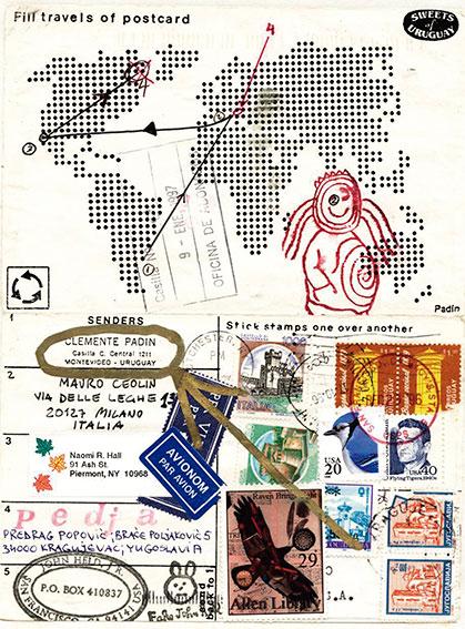 Alrededor del mundo. Arte Correo, Clemente Padin