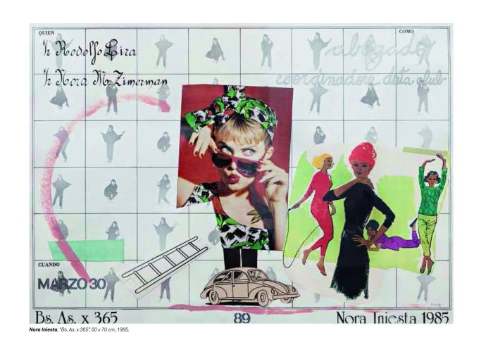 Nora Iniesta, Bs As x 365 (89), 50x70cm, año 1985