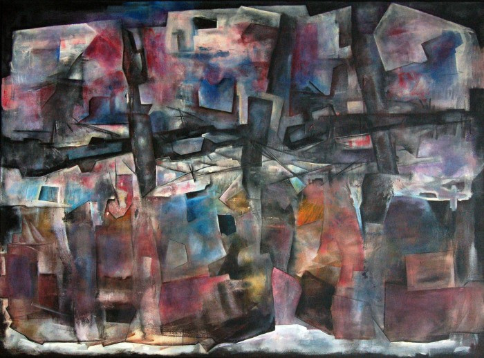 Fabian Galdamez. Apocalipsis. Acrilico. 140 x 190 cm. 1984.