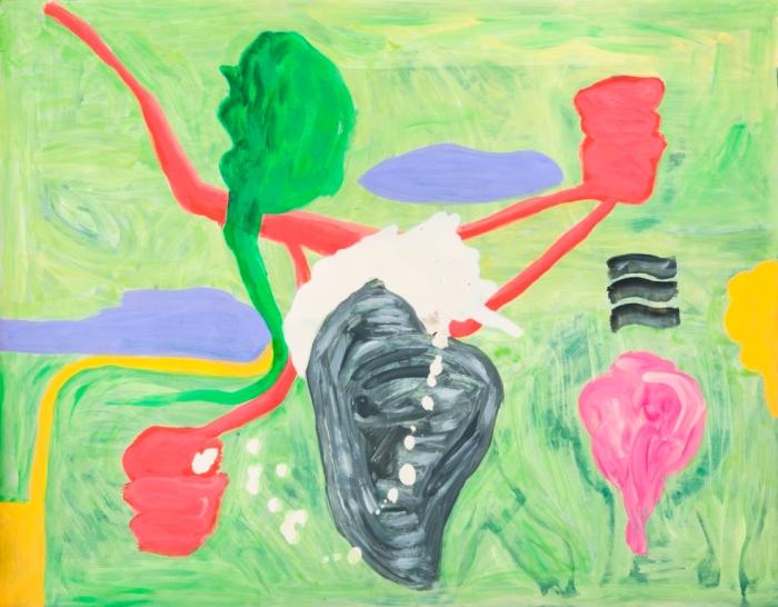 Turco en la Neblina, Oleo sobre papel, 49 x 63 cmsb