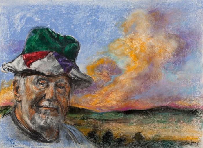AlonsoRoux - Guillermo en Unquillo - 2014 - Pastel y carbón sobre papel - 56 x 76 cm