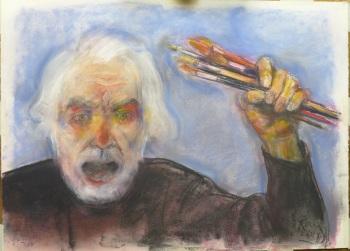 AlonsoRoux - Sean eternos los pinceles... CA - 2014 - Pastel y carbón sobre papel - 56 x 76 cm