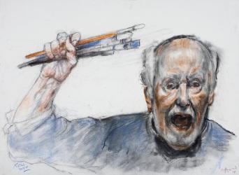 AlonsoRoux - Sean eternos los pinceles... GR - 2014 - Pastel y carbón sobre papel - 56 x 76 cm