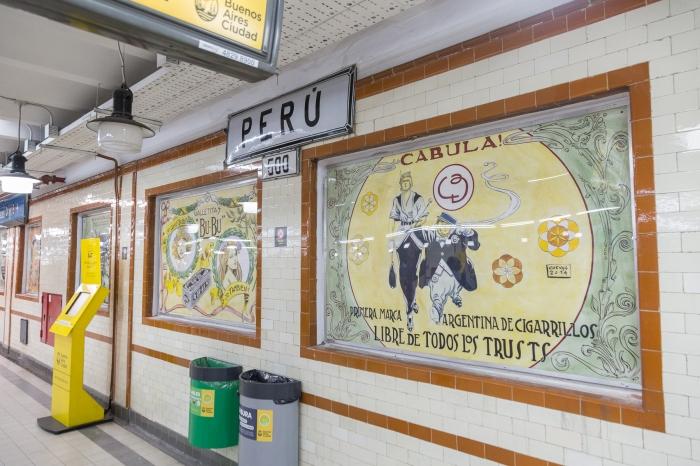 Estación Perú (Línea A), por Pedro Cuevas.
