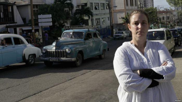 Tania en La Habana (foto CUBA LIBRE DIGITAL)