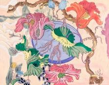 Flowers 2012, óleo sobre papel, 120x160 cm