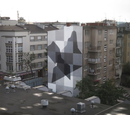 """ Monochrome / Light and shadow "", Traffic Design. Gdynia, Poland."