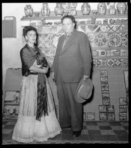 Leo Matiz, FRIDA KAHLO Y DIEGO RIVERA - COYOACÁN, MÉXICO 1943