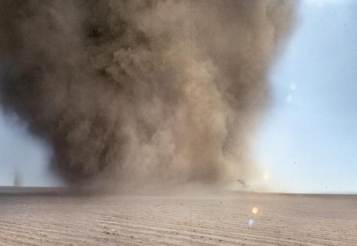 Tornado, Milpa Alta, México, 2000-10, video. 40'. Persecusión de remolinos de tierra, en el sur del DF.