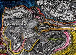 Ante el misterio, tinta sobre papel, 2015