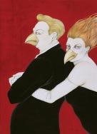 El tenor y la mezzo - técnica mixta sobre carton - 100 x 70 cm - 2015