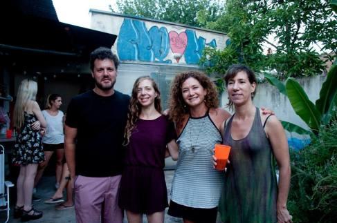 los cuatro diresctores de residencias Pablo Caligaris y Carolina Magnin (IRA), Lucrecia Urbano (ZI) y Melina Berkenwald (URRA)