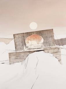 Sin título #11. Collage, acuarela y lapiz sobre papel. 50x37cm