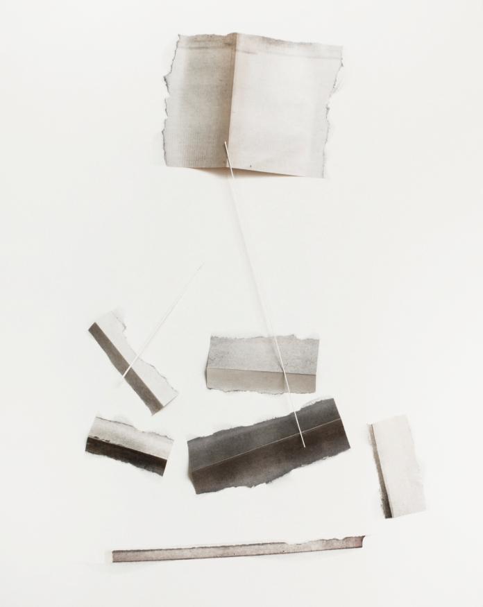 Sin título 37x29 cm collage sobre papel