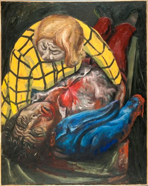 Berni, El obrero herido, 1949, oleo sobre tela, 200x150cm