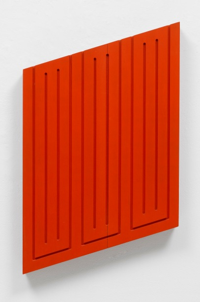 Donal Judd Untitled, July 1968. acrylic on wood,52.7 cm x 42.5 cm x 5.1 cm MACBA
