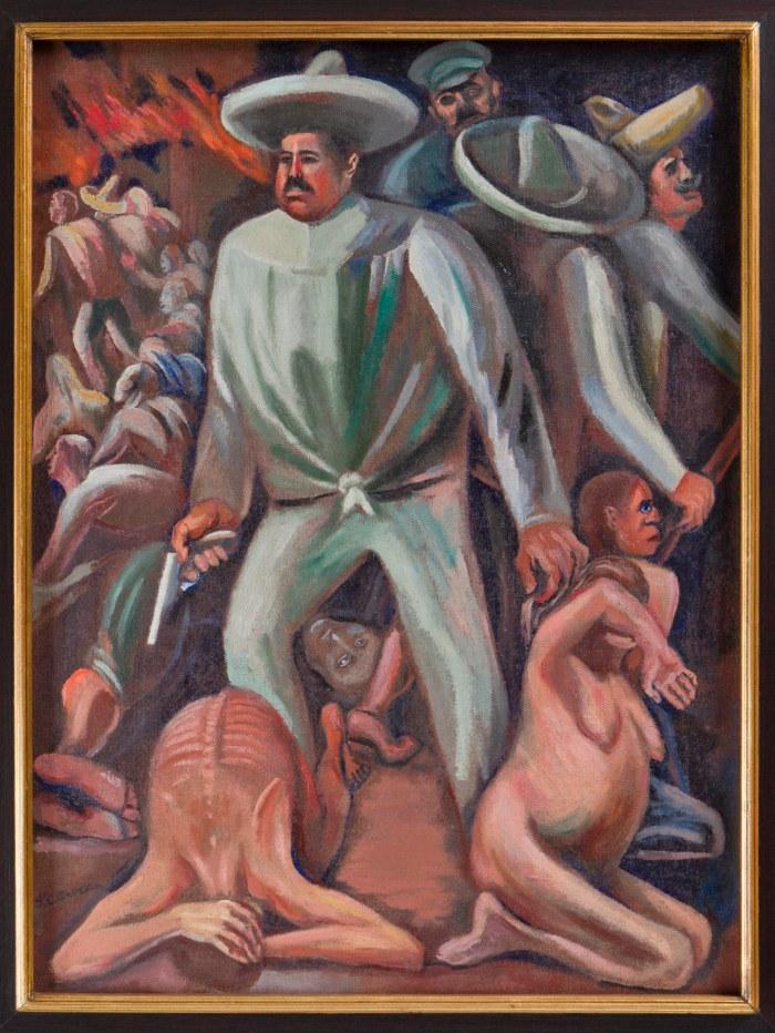 Pancho Villa (1931). El revolucionario de Durango, personaje de una de las obras de Orozco que puede verse ahora en el MNBA.