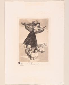 Volaverunt. Serie Caprichos. 1797-1798. Aguafuerte sobre papel.. 36 x 26 cm. Coleccion MNBA