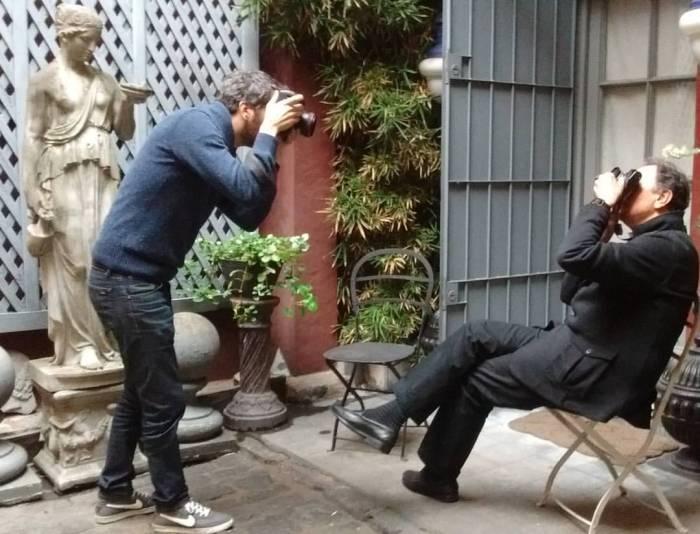 Ignacio Coló y Aldo Sessa, duelo de fotógrafos. Foto: MPZ.