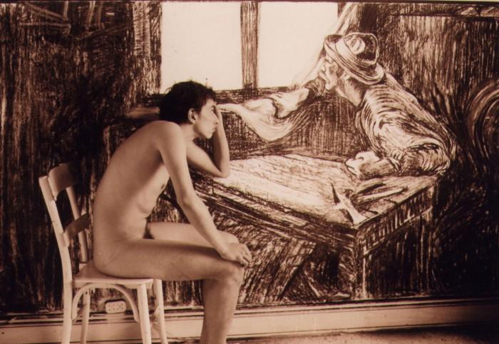 Tomás Espina y su versión de la obra en video, de 2001