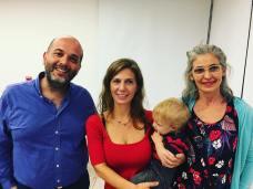 Con Daniel Rueda y Laura Valdivieso